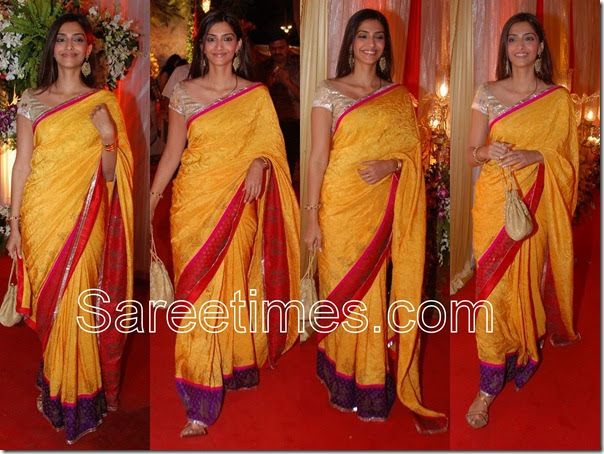 Sonam Kapoor In Yellow Saree